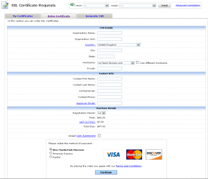 SSL Certificates now available in Web Hosting Control Panel