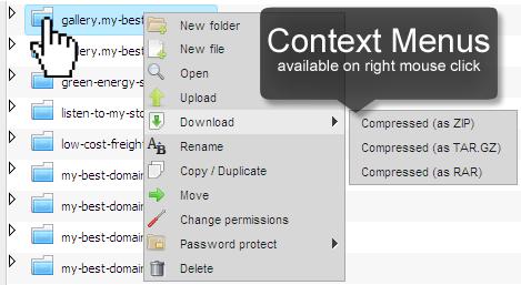 Right-Click context menus