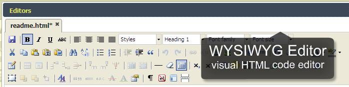 WYSIWYG HTML file editor