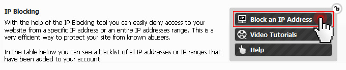 IP Blocking security tool