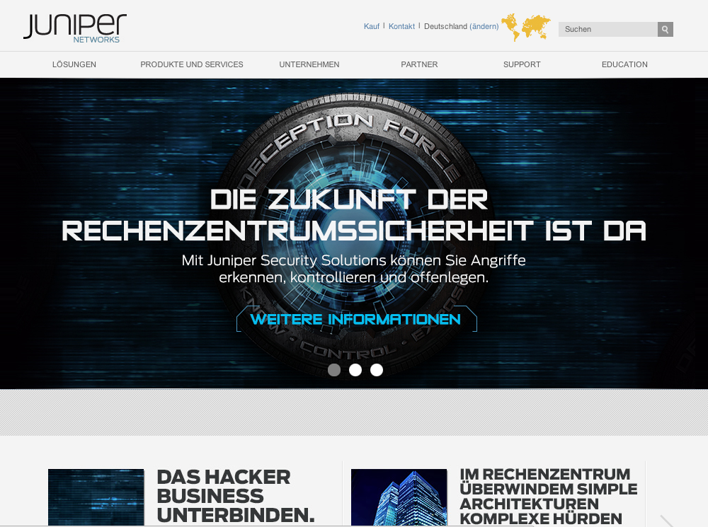 Geo targeting - a site opened from Germany