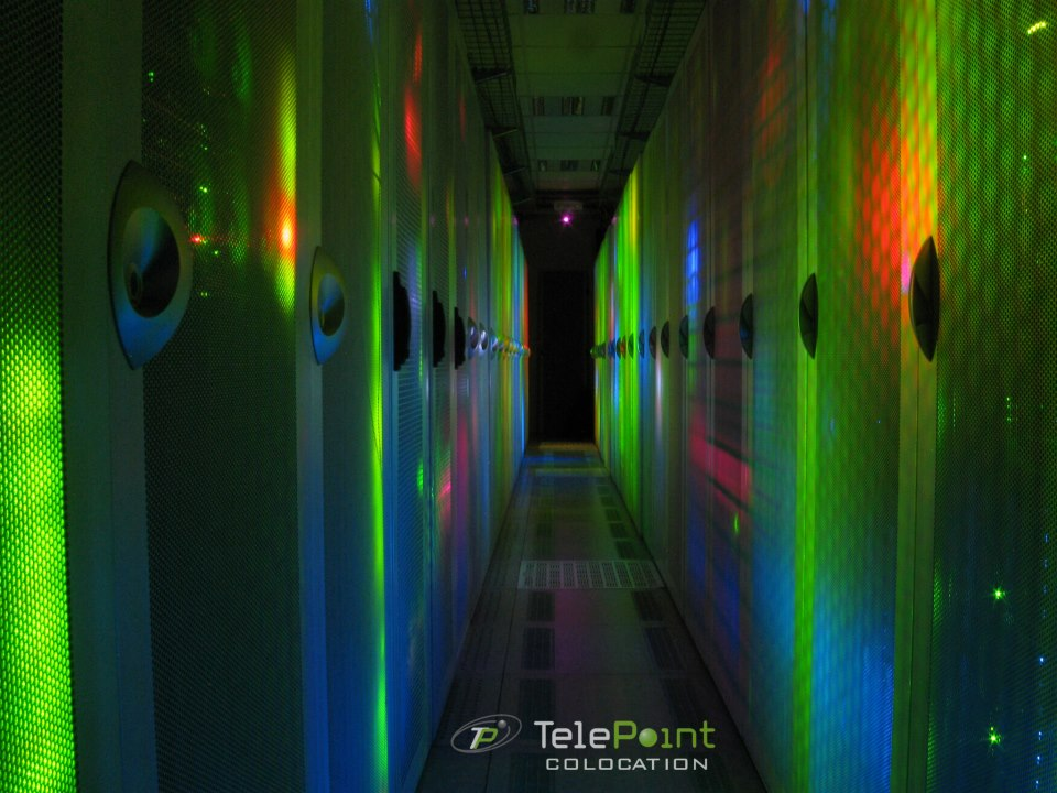TelePoint data center at night