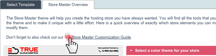 Store Master Customization Guide in Control Panel