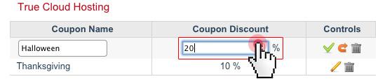 Coupon Generator - edit coupon