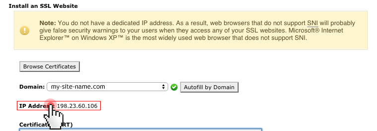 How to activate SSL on a shared IP from cPanel