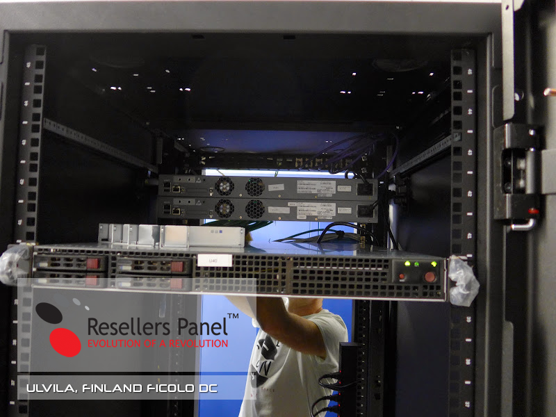 Finland data center - server setup in colocation space