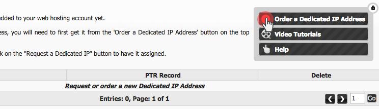 Hepsia upgrades - Dedicated IP addresses