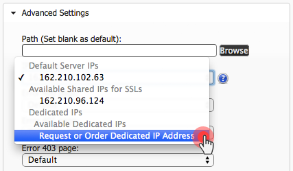 Hepsia upgrades - dedicated IPs in Hosted Domains