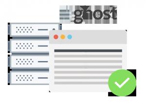 Ghost hosting enabled on our platform