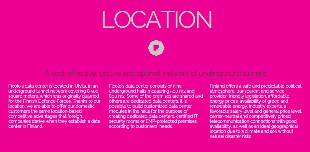 Finnish data center - location