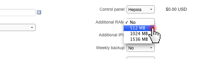 VPS - new RAM upgrade quotas