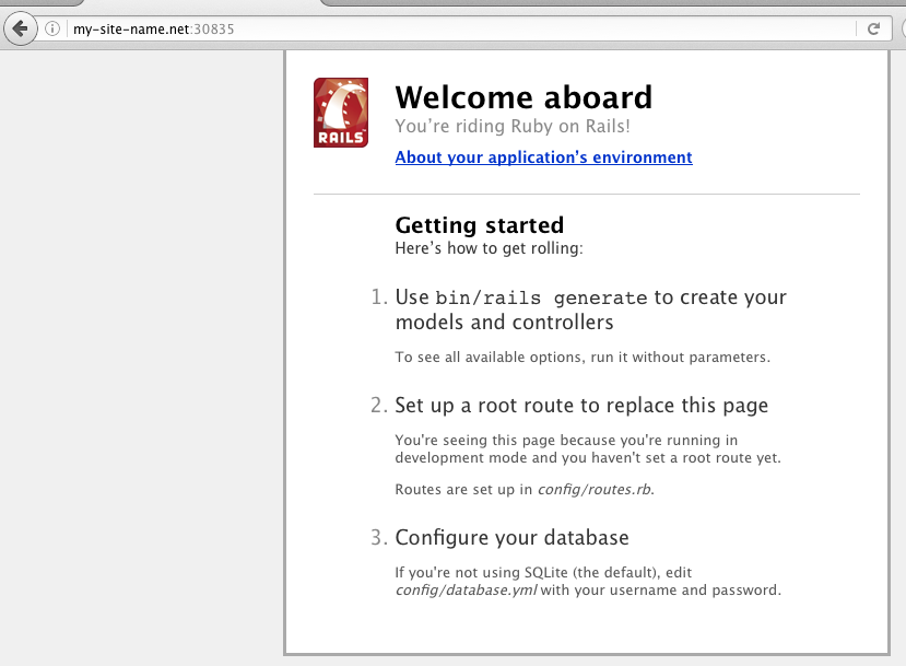 Ruby on Rails installed online