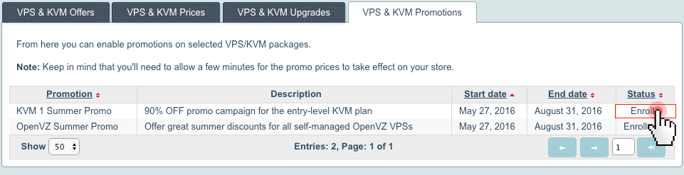 KVM and OpenVZ promotions -  how to enroll