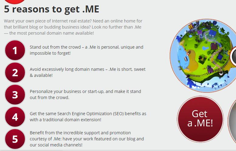 .ME TLD - registration benefits
