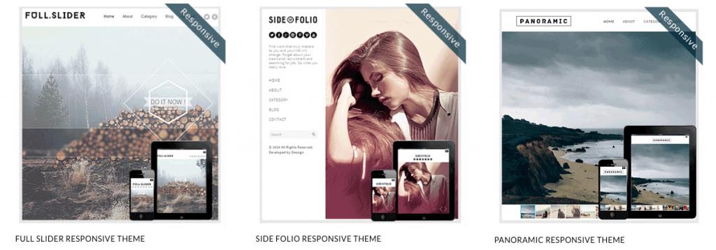 Free WordPress themes - full screen layout
