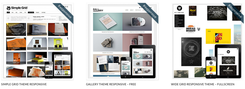 Free WordPress themes - grid layout