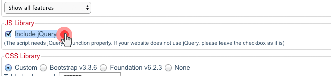 Plan table -  use jquery