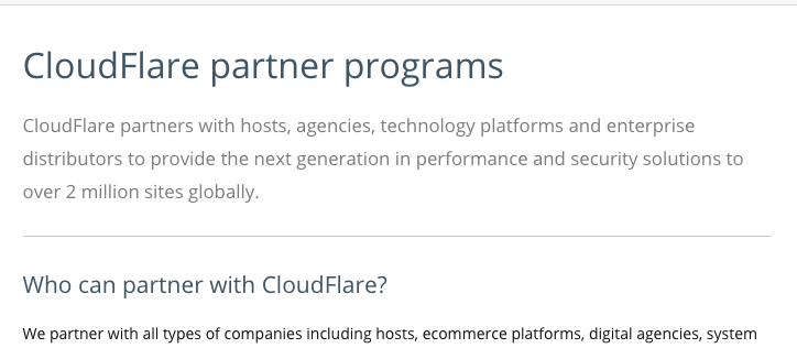 Start a web hosting provider - enter into partnerships