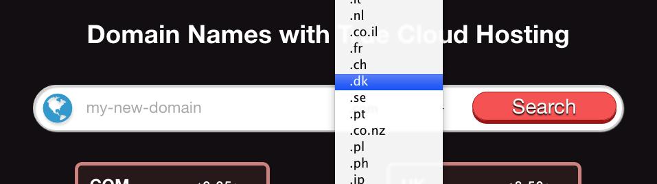.DK ccTLD - select domain