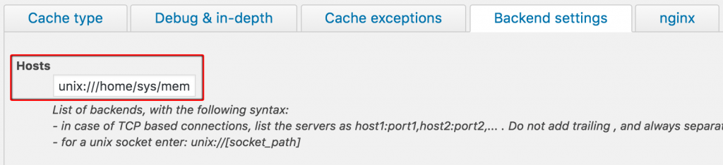 Set up Memcached on WordPress - backend settings