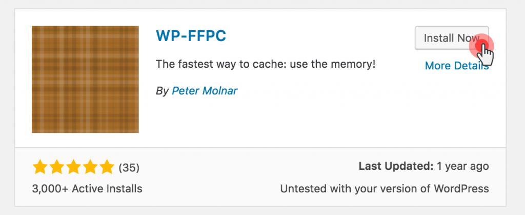 Set up Memcached on WordPress - wp-ffpc cache plugin