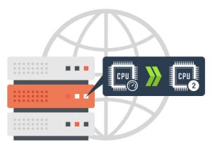 semi-dedicated servers CPU increase