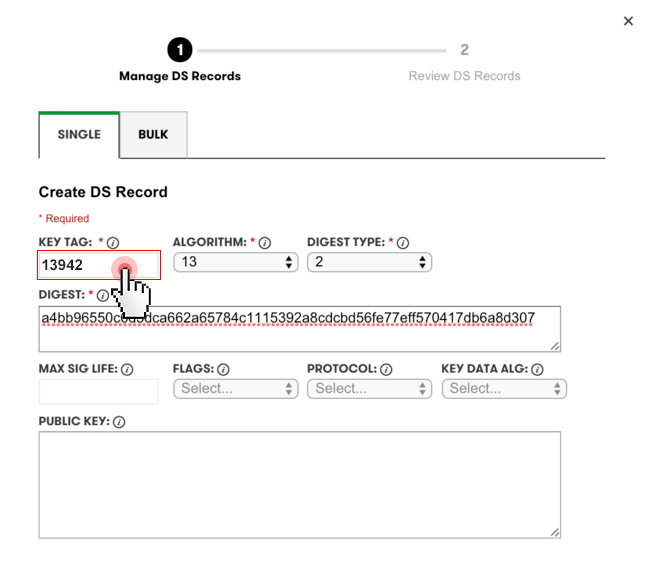 DNSSEC - manage DS records from other registrars