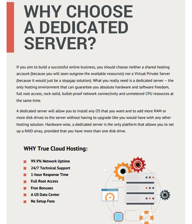 PDF - dedicated servers brochure - why choose