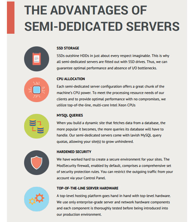 PDF-semi-dedicated servers brochure -advantages