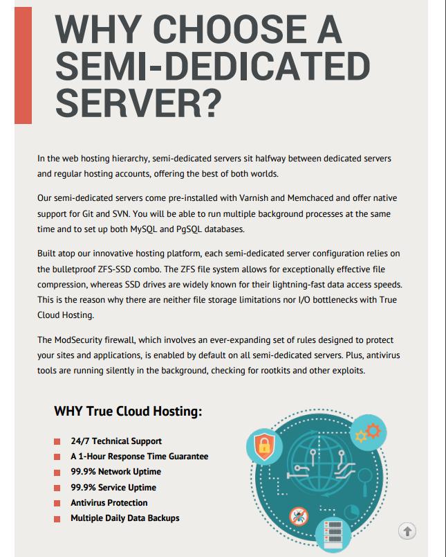 PDF - semi-dedicated servers catalog - why choose
