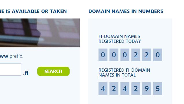 .FI ccTLD - registration statistics