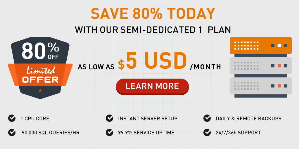 Semi-dedicated servers - promotion
