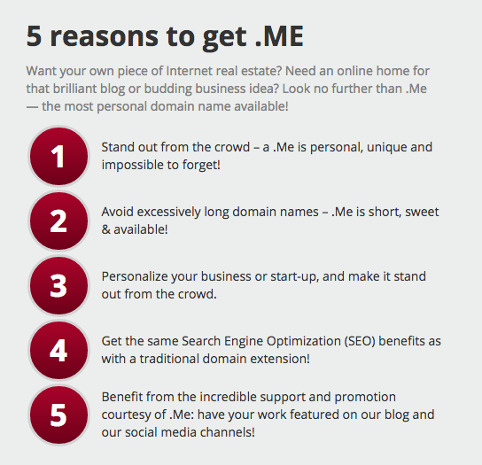 .ME domain extension - reasons to register