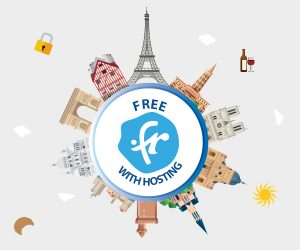 .FR TLD free with hosting