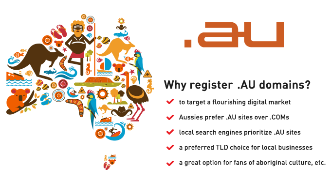 Why register .AU domains?
