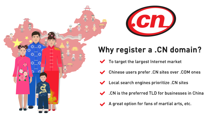 .CN TLD - free with a hosting plan