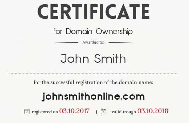 Domain certificates - details