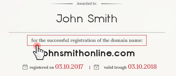 Domain certificates - registration