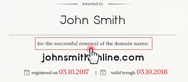 Domain certificates - renewal