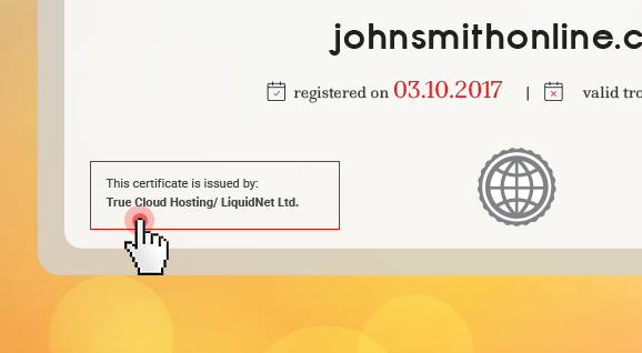Domain certificates - store name