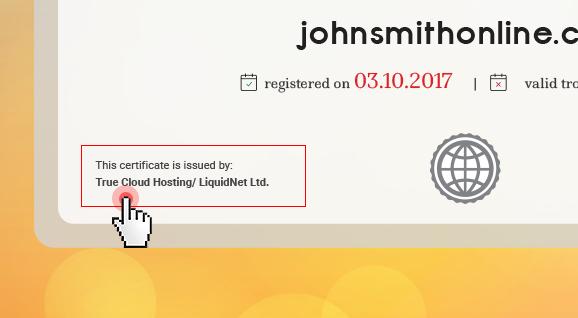 Domain certificates - store name