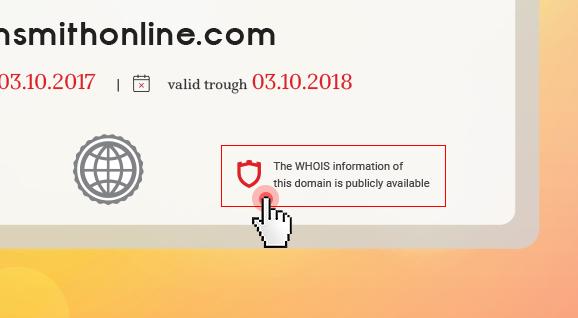 Domain certificates - Whois status