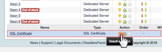 You can now choose to enable/disable SSL certificates on your store