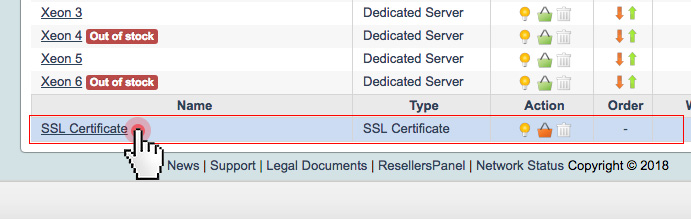 Activate/deactivate SSL certificates