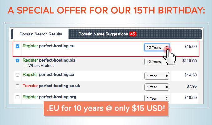 ResellersPanel - special .EU offer