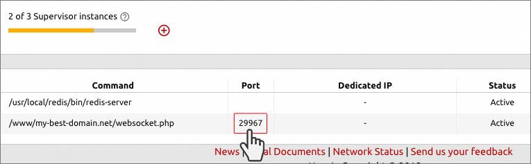 Swoole network framework - supervisor instance port