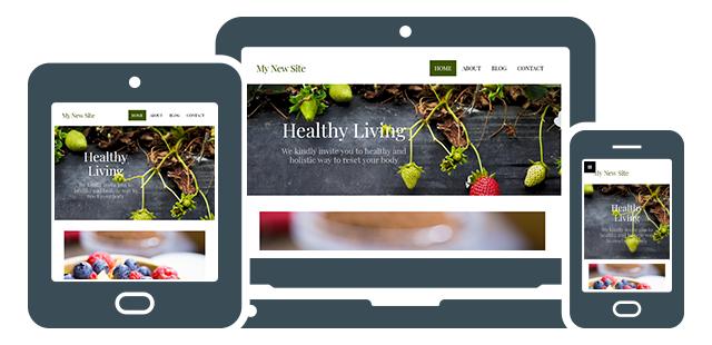 new site builder fully responsive design