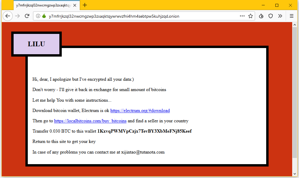 lilocked ransomware page example