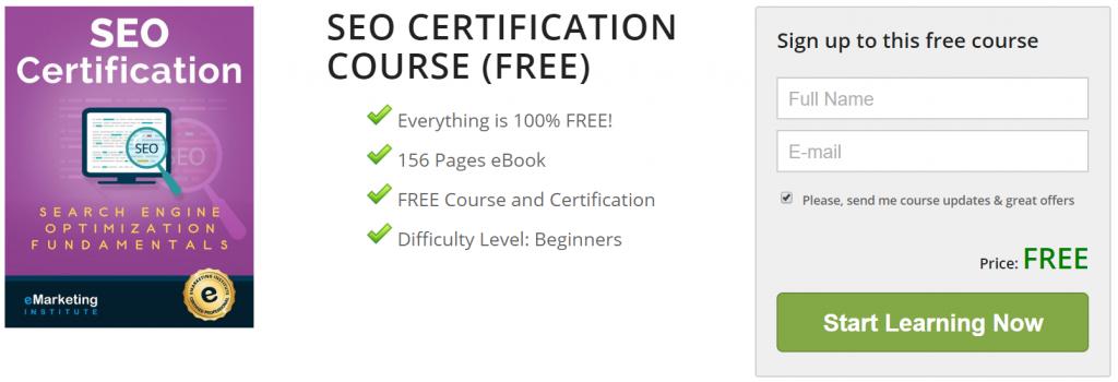 quarantine free courses eMarketing Institute