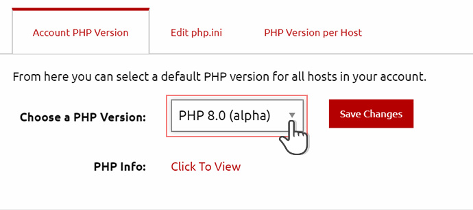 php  alpha in Control Panel enable